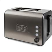 Black+Decker Φρυγανιέρα 2 Θέσεων 900W Inox BXTO900E