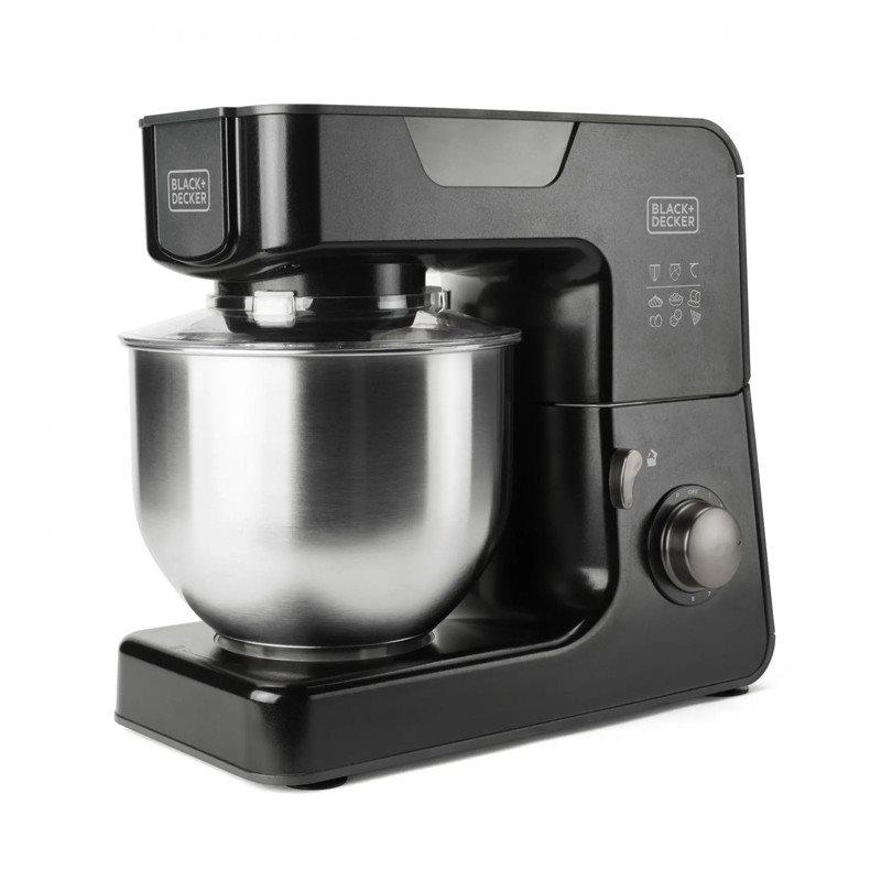 Black+Decker Κουζινομηχανή 1000W με Ανοξείδωτο Κάδο 5.2lt BXKM1000E 8 Ταχύτητες και 2 Εξαρτήματα