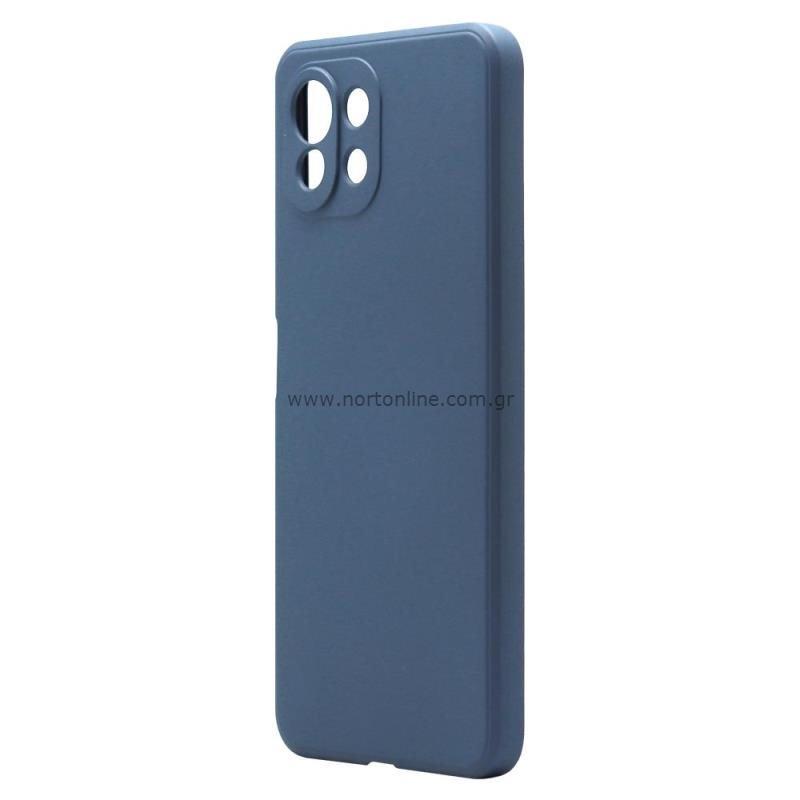 Θήκη Liquid Silicon inos Xiaomi Mi 11 Lite/ Mi 11 Lite 5G L-Cover Μπλε Ραφ