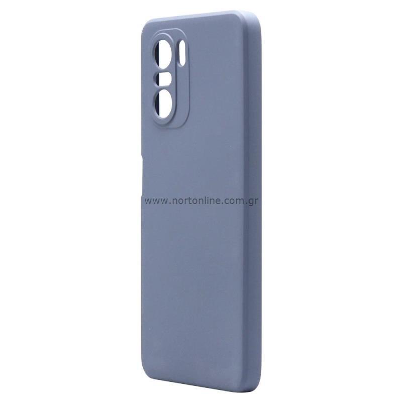 Θήκη Liquid Silicon inos Xiaomi Poco F3/ Mi 11i L-Cover Γκρι-Μπλε