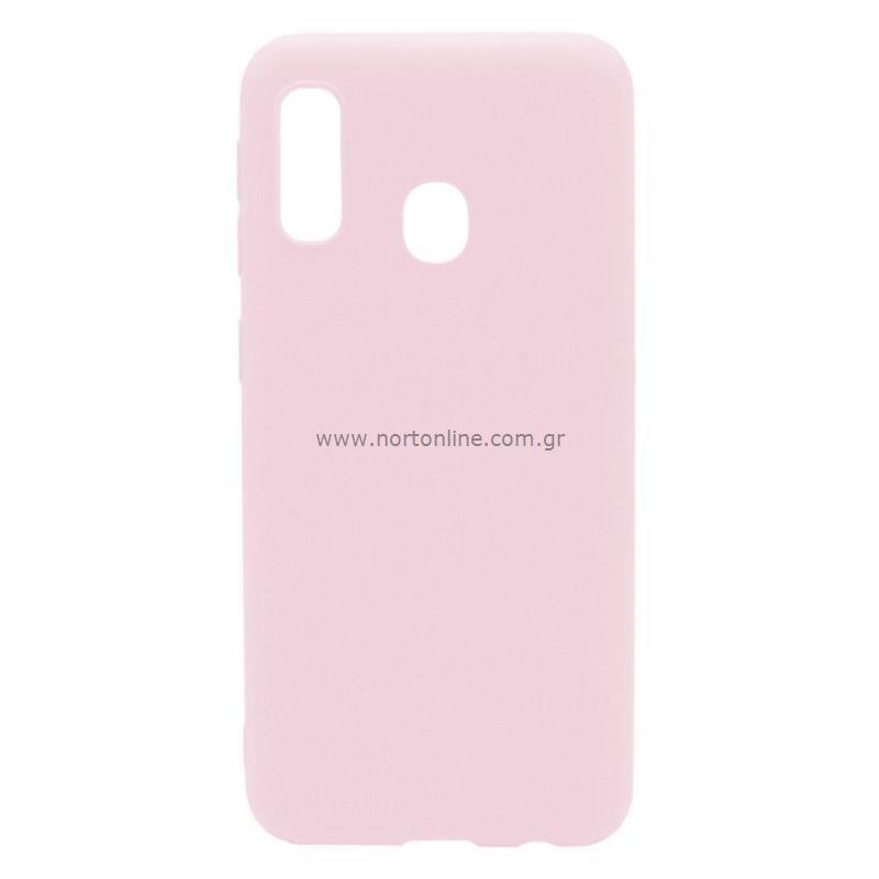 Θήκη Soft TPU inos Samsung A202F Galaxy A20e S-Cover Dusty Ροζ