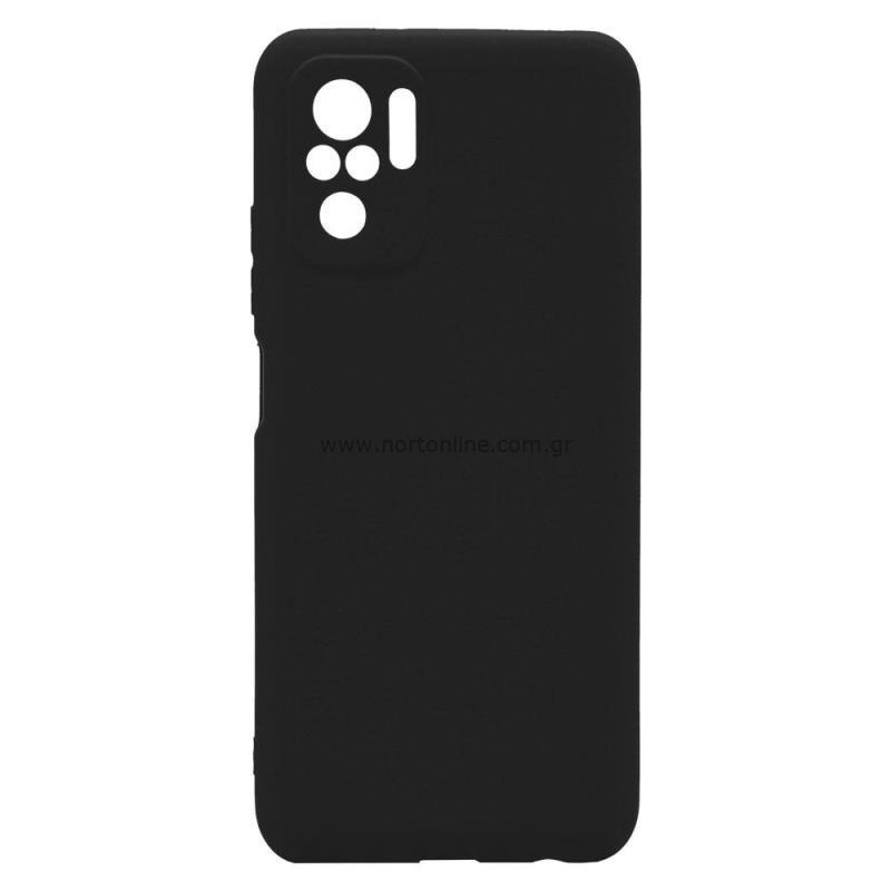 Θήκη Soft TPU inos Xiaomi Redmi Note 10 S-Cover Μαύρο