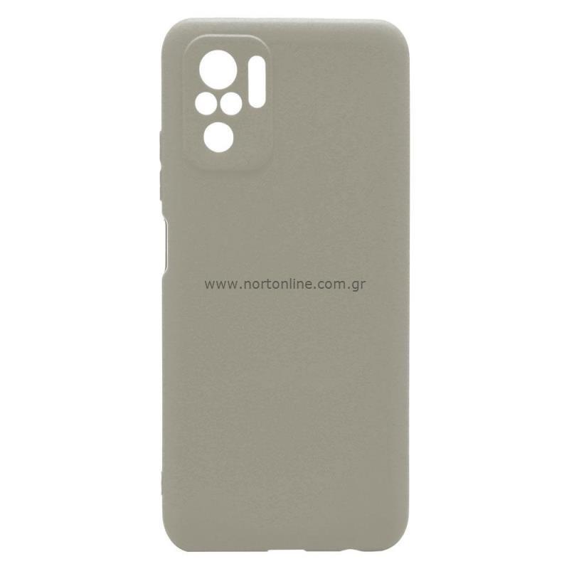 Θήκη Soft TPU inos Xiaomi Redmi Note 10 S-Cover Γκρι