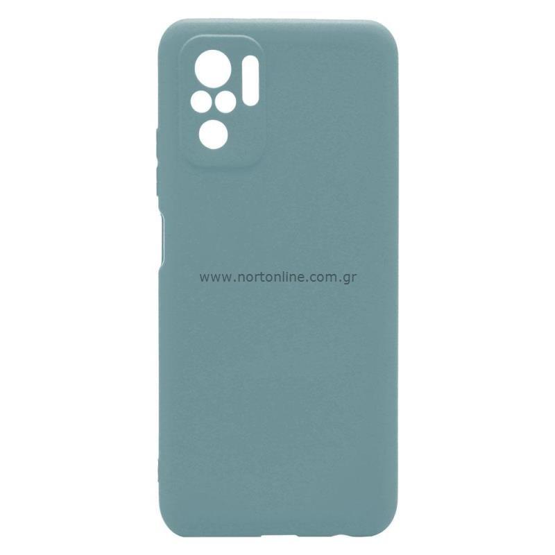Θήκη Soft TPU inos Xiaomi Redmi Note 10 S-Cover Πετρόλ