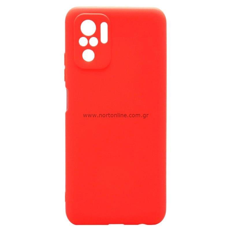 Θήκη Soft TPU inos Xiaomi Redmi Note 10 S-Cover Κόκκινο