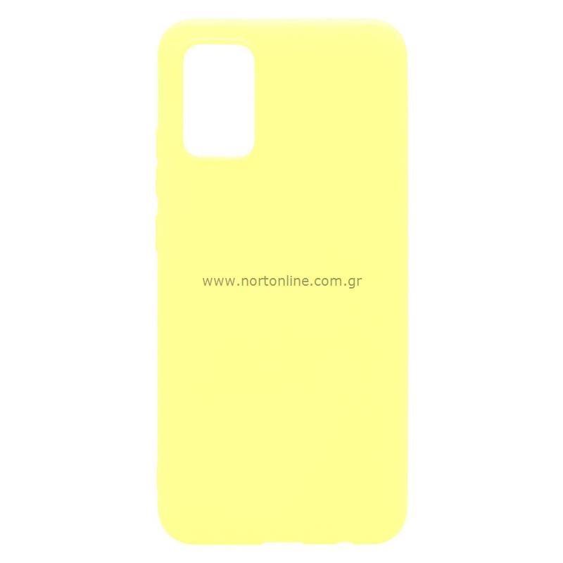 Θήκη Soft TPU inos Samsung A025F Galaxy A02s S-Cover Κίτρινο
