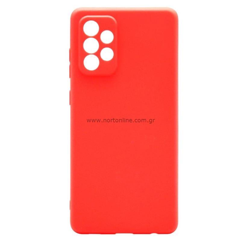 Θήκη Soft TPU inos Samsung A725F Galaxy A72 4G/ A726B Galaxy A72 5G S-Cover Κόκκινο