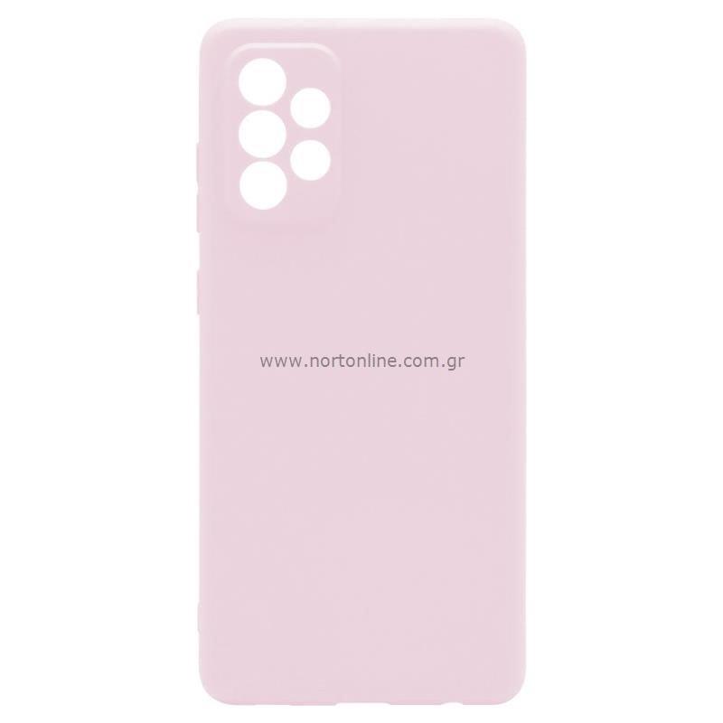 Θήκη Soft TPU inos Samsung A725F Galaxy A72 4G/ A726B Galaxy A72 5G S-Cover Dusty Ροζ