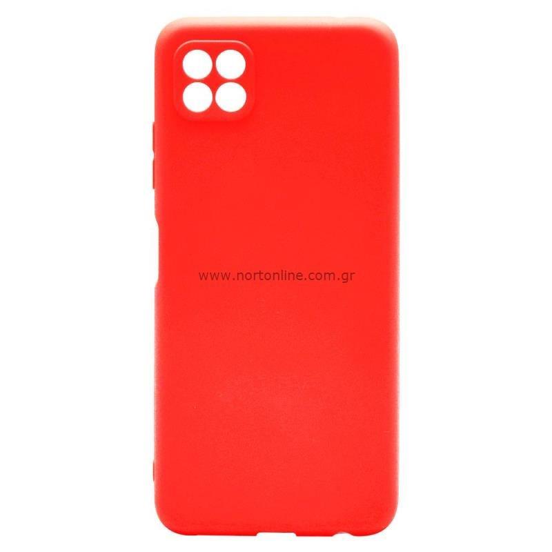 Θήκη Soft TPU inos Samsung A226B Galaxy A22 5G S-Cover Κόκκινο