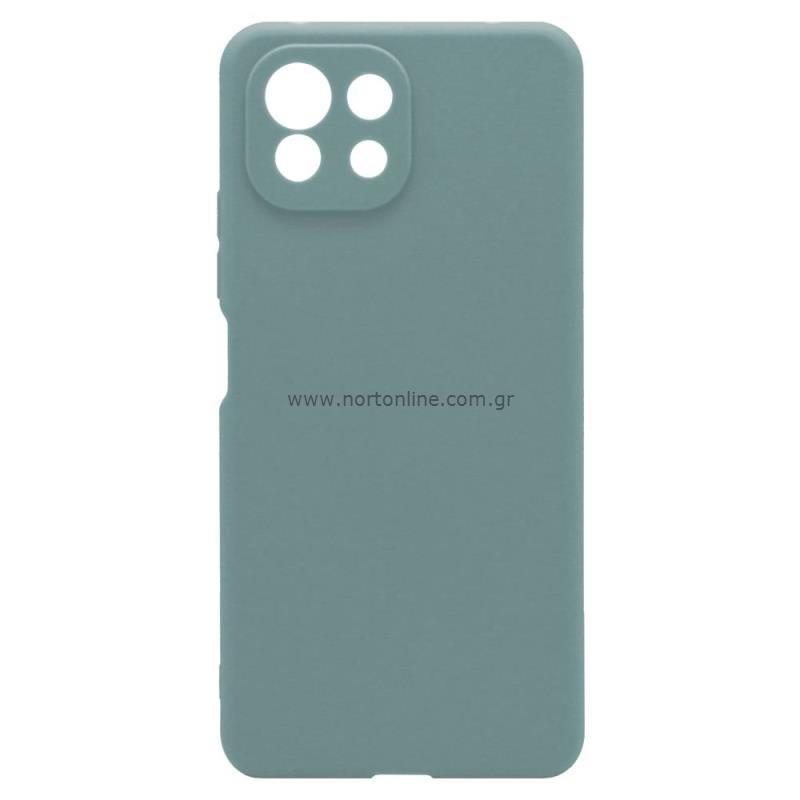 Θήκη Soft TPU inos Xiaomi Mi 11 Lite/ Mi 11 Lite 5G S-Cover Πετρολ