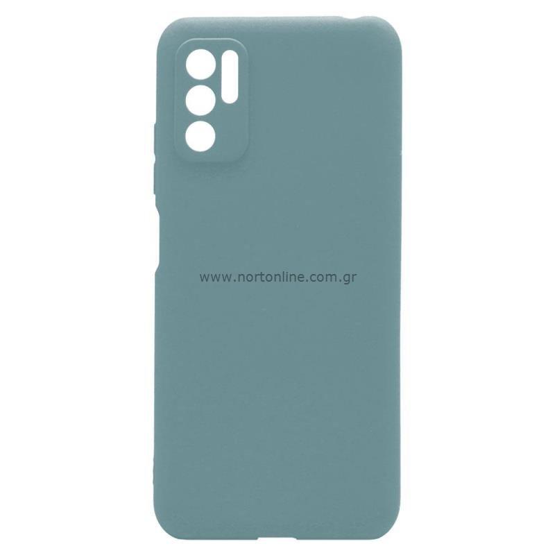Θήκη Soft TPU inos Xiaomi Redmi Note 10 5G S-Cover Πετρολ