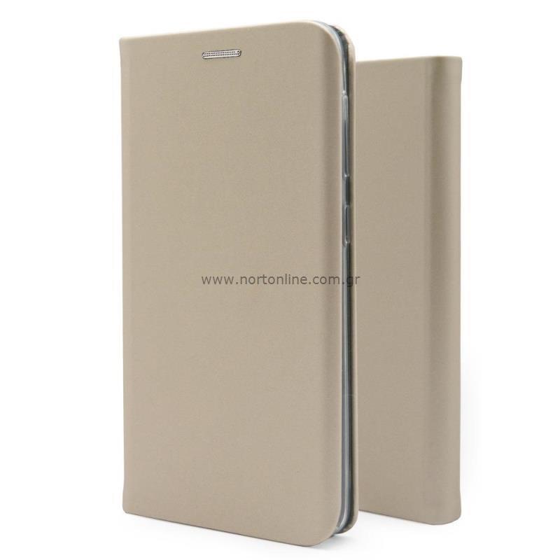 Θήκη Flip Book inos Samsung A226B Galaxy A22 5G Curved S-Folio Χρυσαφί