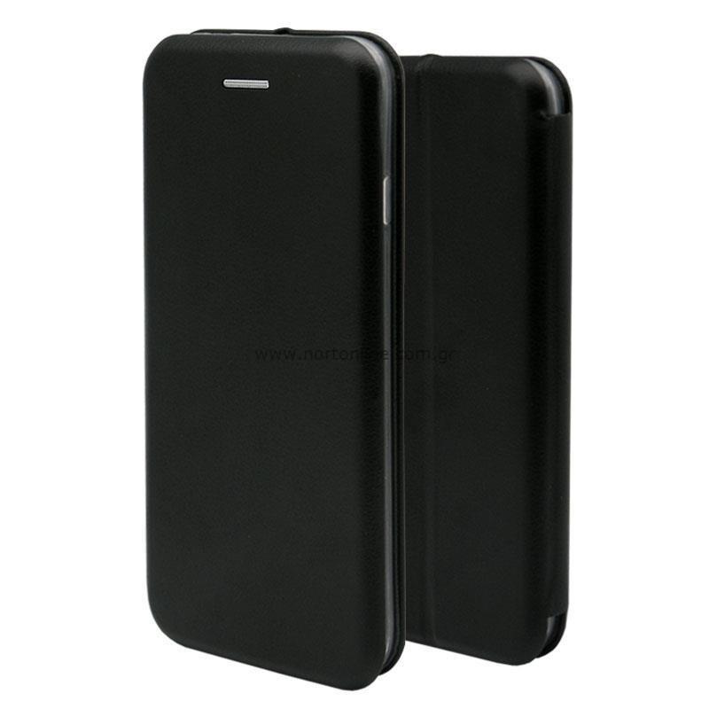 Θήκη Flip Book inos Samsung A226B Galaxy A22 5G Curved M-Folio Μαύρο