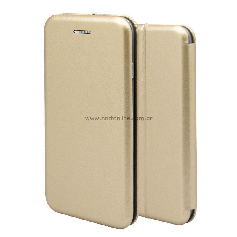 Θήκη Flip Book inos Xiaomi Redmi Note 10 5G Curved M-Folio Χρυσαφί