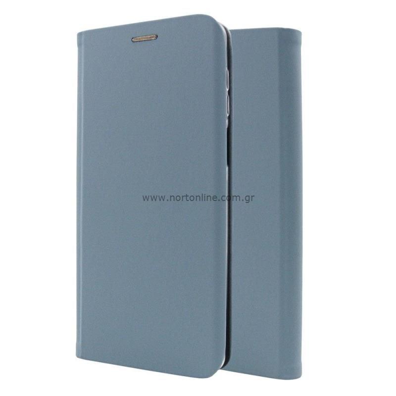 Θήκη Flip Book inos Xiaomi Poco F3/ Mi 11i Curved S-Folio Παστέλ Μπλε