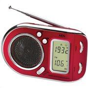 AEG Φορητό ραδιόφωνο με ξυπνητήρι WE 4125 RED
