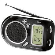 AEG Φορητό ραδιόφωνο με ξυπνητήρι WE 4125 BLACK