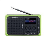 Ψηφιακό ραδιόφωνο Telco TR-210 μπαταρίας με USB και κάρτα μνήμης SD μαύρο-πράσινο
