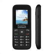 Alcatel 1054D (Dual SIM) Feature Phone Μαύρο-Γκρι