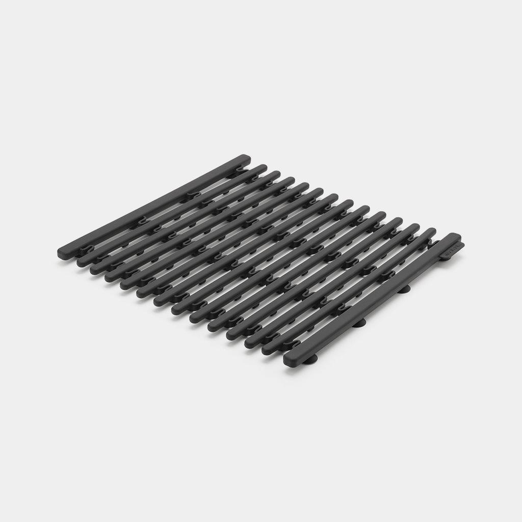 Brabantia Βάση Σκεύους - Επιφάνεια Νεροχύτη Επεκτεινόμενη Σιλικόνης Σκούρο Γκρι 30X30,1,5-45cm