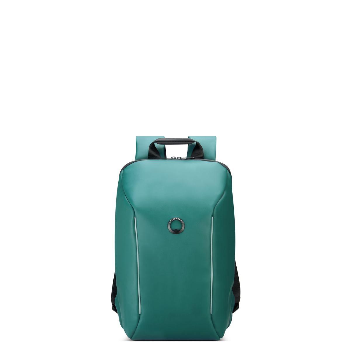 Delsey Σακίδιο πλάτης με θέση PC 14  44,5x29,5x16,5cm σειρά Securain Πράσινο