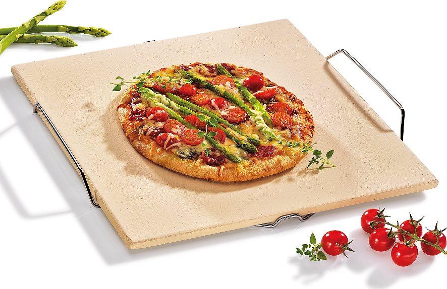 Kuchenprofi Πλάκα Ψησίματος για Πίτσα με Βάση & Χερούλι 38x35,5cm.