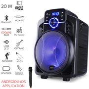 Akai ABTS-I6 Ηχείο karaoke με Bluetooth, LED, Android & iOS App, ενσ. μικ. & υποδοχή για όργανο–20W