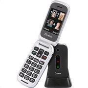 Olympia MIRA GR Μαύρο (Ελ. Μενού) Κινητό τηλέφωνο για ηλικιωμένους με κουμπί SOS, BT, κάμερα με φλας