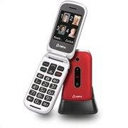 Olympia MIRA GR Κόκ. (Ελ. Μενού) Κινητό τηλέφωνο για ηλικιωμένους με κουμπί SOS, BT, κάμερα με φλας