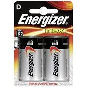 Energizer Αλκαλικές Μπαταρίες D 1.5V Max 2τμχ