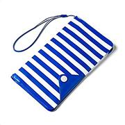 Celly Splash Wallet Case Up To 5.7 Smartphone Blue