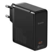 Baseus Travel Charger GaN2 QC 5.0 Type-C 100W + Cable Type-C 100W 1.5m Black