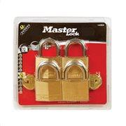 MasterLock Σετ 4 λουκέτα μπρούτζινα 30mm με ίδιο κλειδί