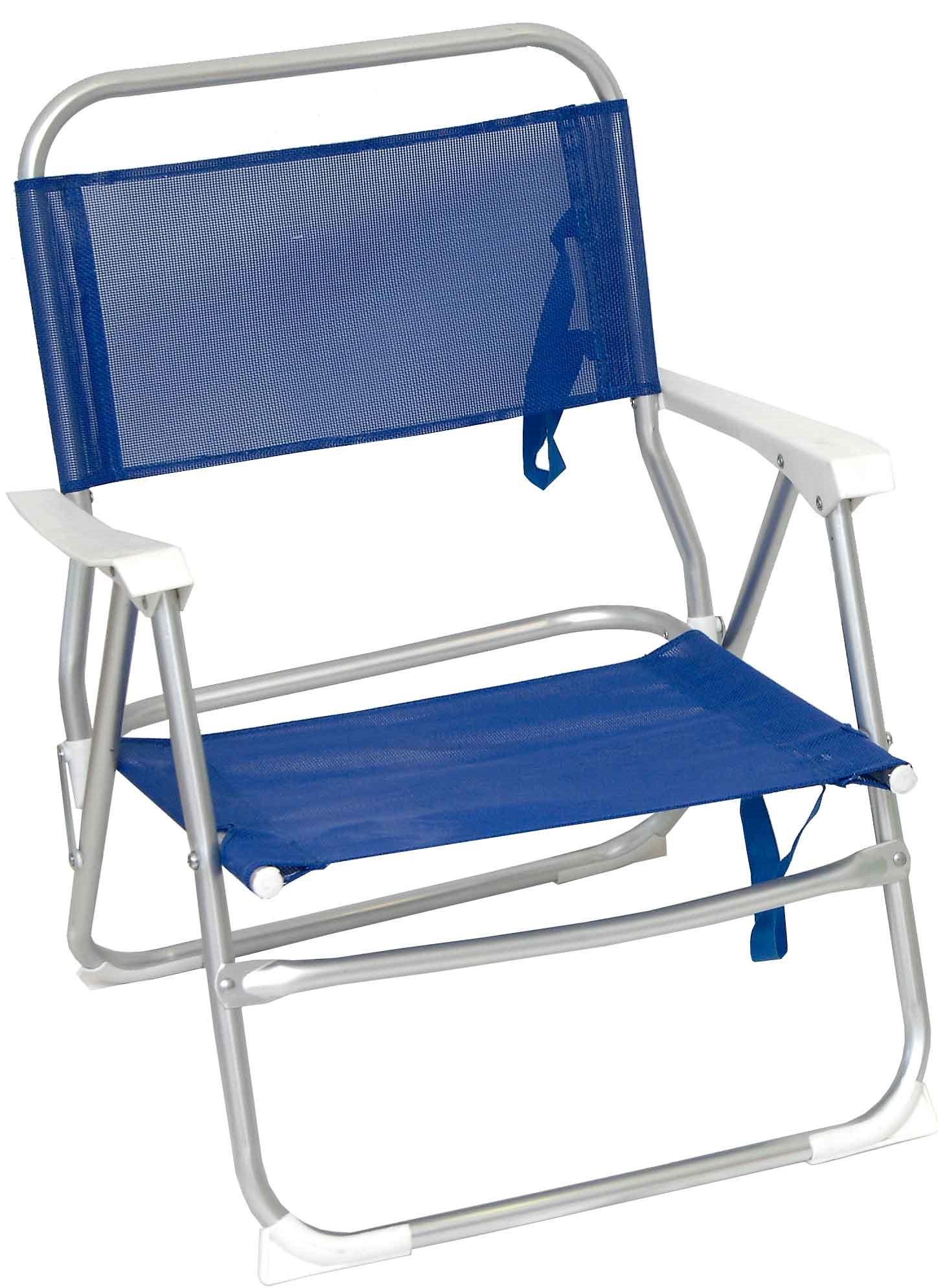 Campus καρέκλα παραλίας αλουμινίου μπλε με μπράτσα