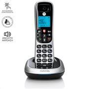 MOTOROLA CD4001 SILVER (ΕΛΛΗΝΙΚΟ ΜΕΝΟΥ) Ασύρματο τηλέφωνο με φραγή αριθμών και ανοιχτή ακρόαση