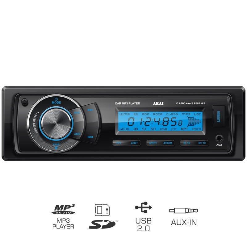 Akai CA004A-3258M3 Ηχοσύστημα αυτοκινήτου με USB,κάρτα SD και Aux-In 4 x 35 W