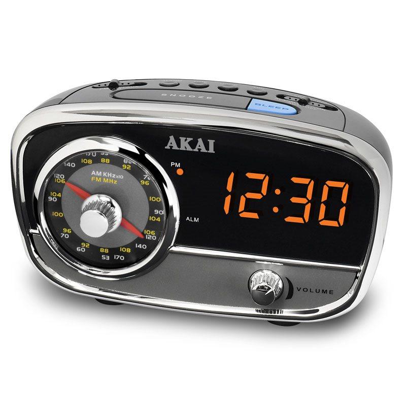 Akai CE1401 Αναλογικό ραδιόφωνο με ψηφιακό ρολόι ξυπνητήρι