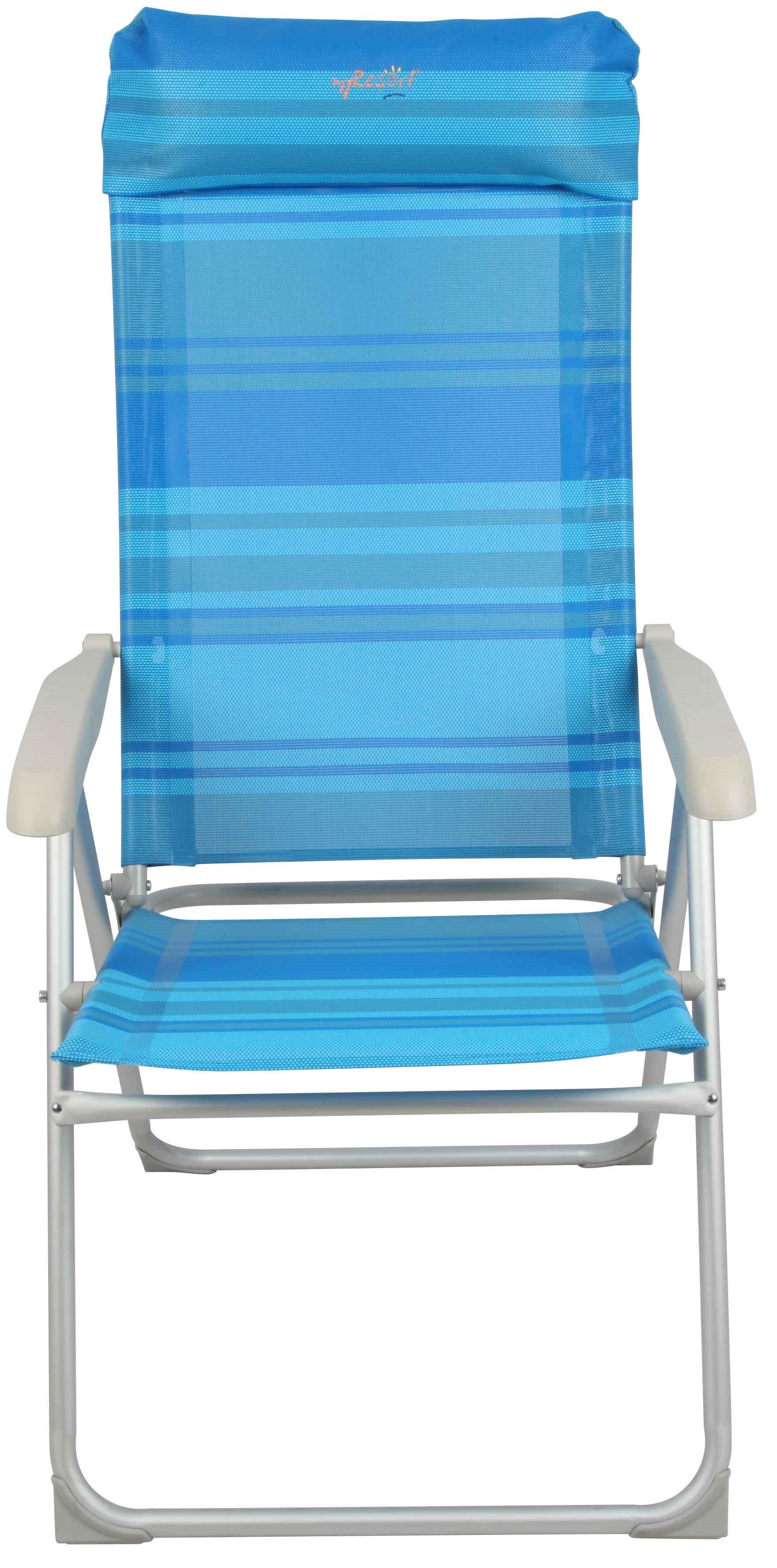 MyResort καρέκλα παραλίας αλουμινίου-μετάλλου γαλάζιο  text