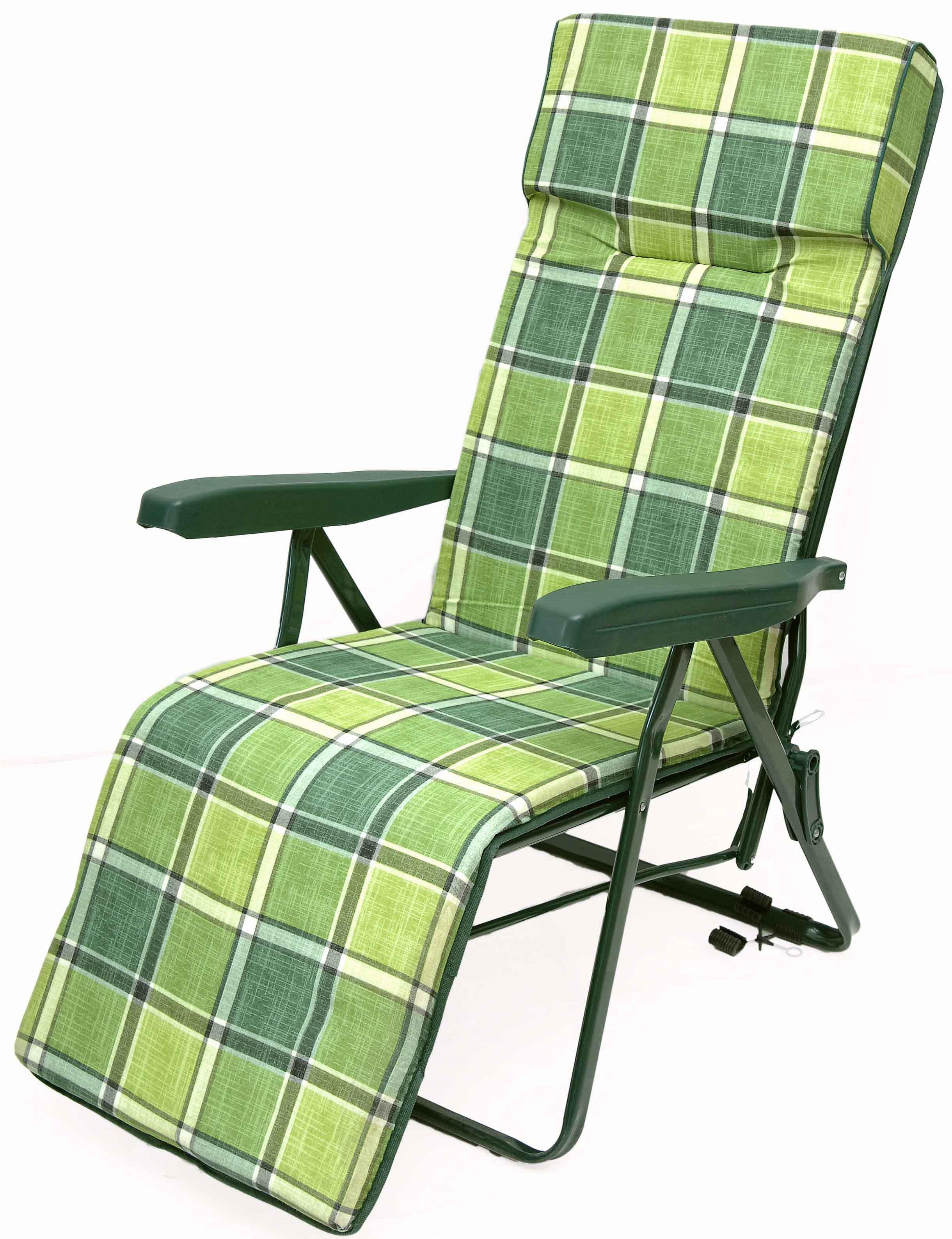 Campus πολυθρόνα κρεβάτι μεταλλική πράσινη καρώ ενισχυμένη πολλαπλών θέσεων
