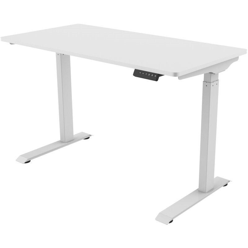 Osio Γραφείο Ξύλινο με Μεταλλικά Πόδια Λευκό 120x60x73cm OSMA-9119