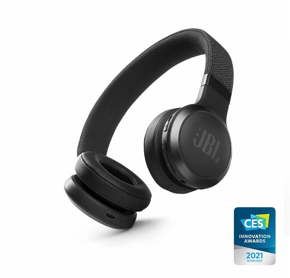 JBL Live 460NC, On-Ear Bluetooth Headphones, Adaptive Noise Cancelling, (Black)
