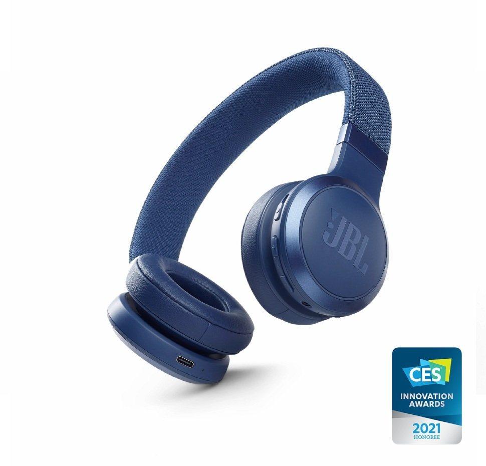 JBL Live 460NC, On-Ear Bluetooth Headphones, Adaptive Noise Cancelling, (Blue)