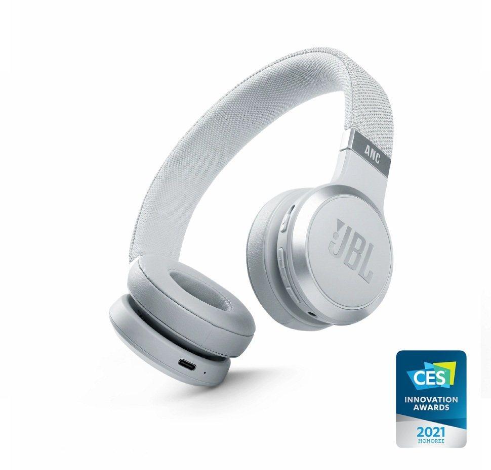 JBL Live 460NC, On-Ear Bluetooth Headphones, Adaptive Noise Cancelling, (White)