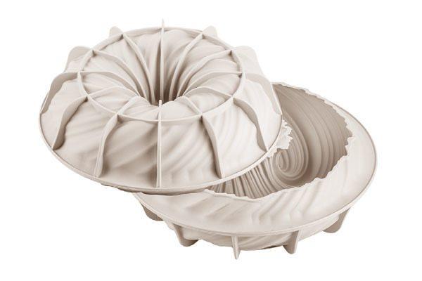 Silikomart Φόρμα Σιλικόνης 3D Intreccio Γκρι O21cm - 1650 ml