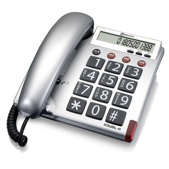 AMPLICOMMS Τηλέφωνο Επιτραπέζιο BigTel 48 Ασημί
