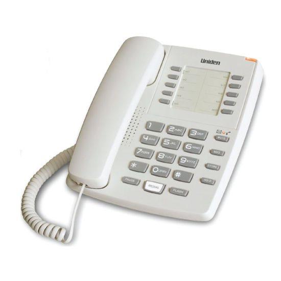 UNIDEN Τηλέφωνο Επιτραπέζιο AS7201 Λευκό