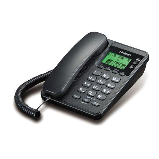 UNIDEN Τηλέφωνο Επιτραπέζιο με οθόνη AS6404 Μαύρο