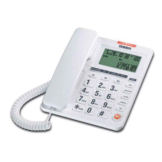 UNIDEN Τηλέφωνο Επιτραπέζιο με οθόνη AS7408 Λευκό