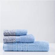 White Fabric Πετσέτα Nerida Σιελ Προσώπου