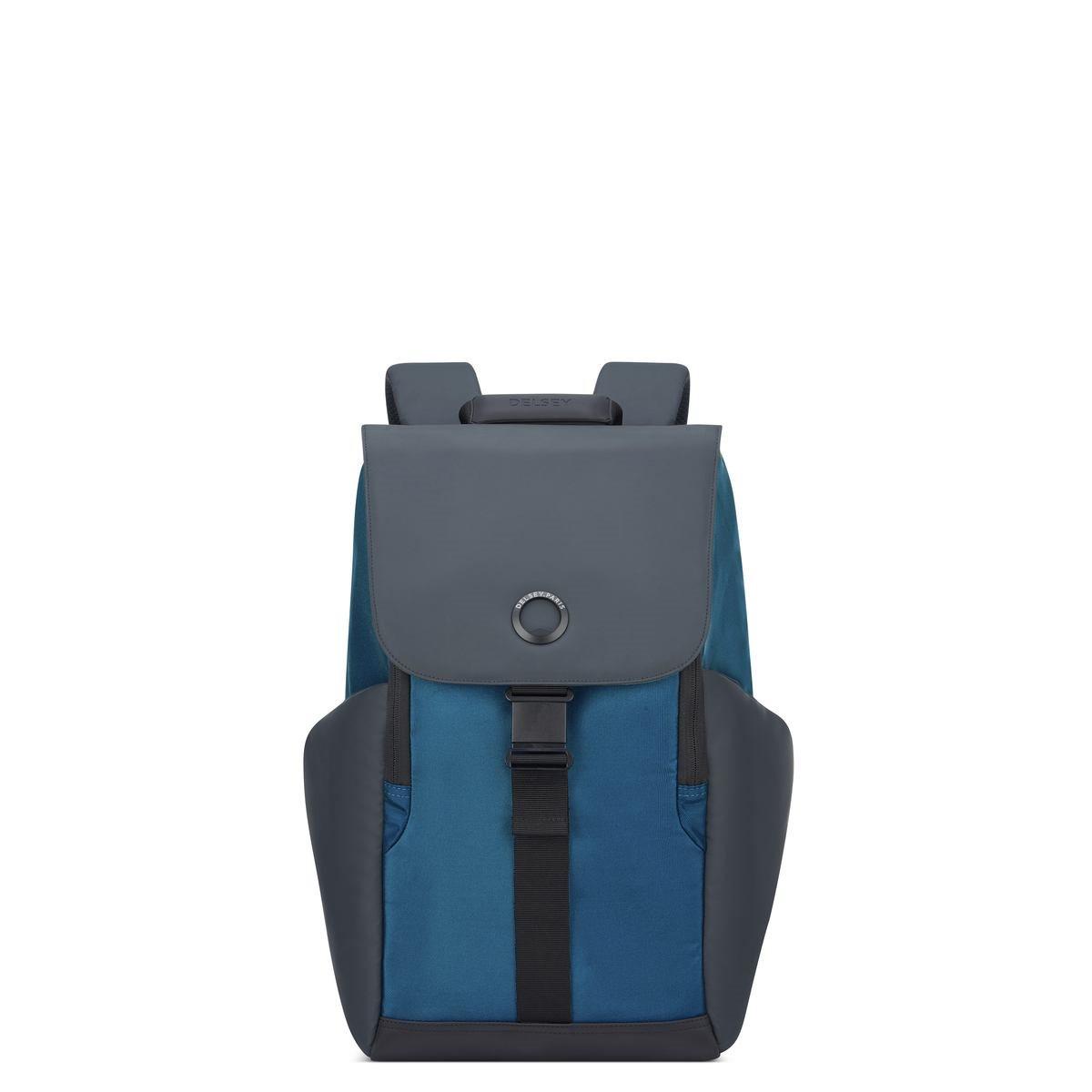 Delsey Σακίδιο πλάτης με θέση PC 15,6'' 45,5x31,5x14,5cm σειρά Securflap Blue